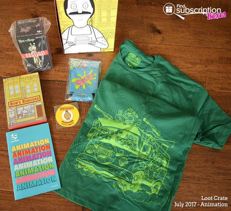 July 2017 Loot Crate Review – Animation - Box Contents