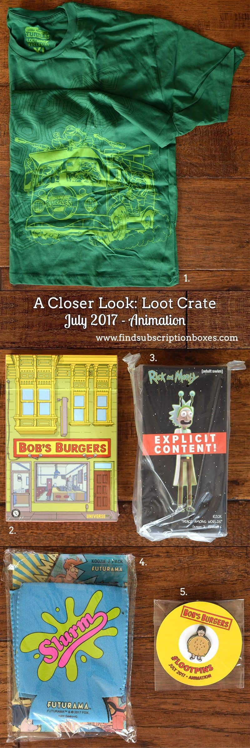 July 2017 Loot Crate Review – Animation - Inside the Box