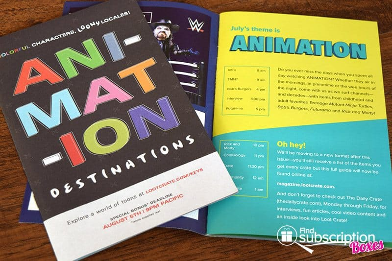 July 2017 Loot Crate Review – Animation - Magazine