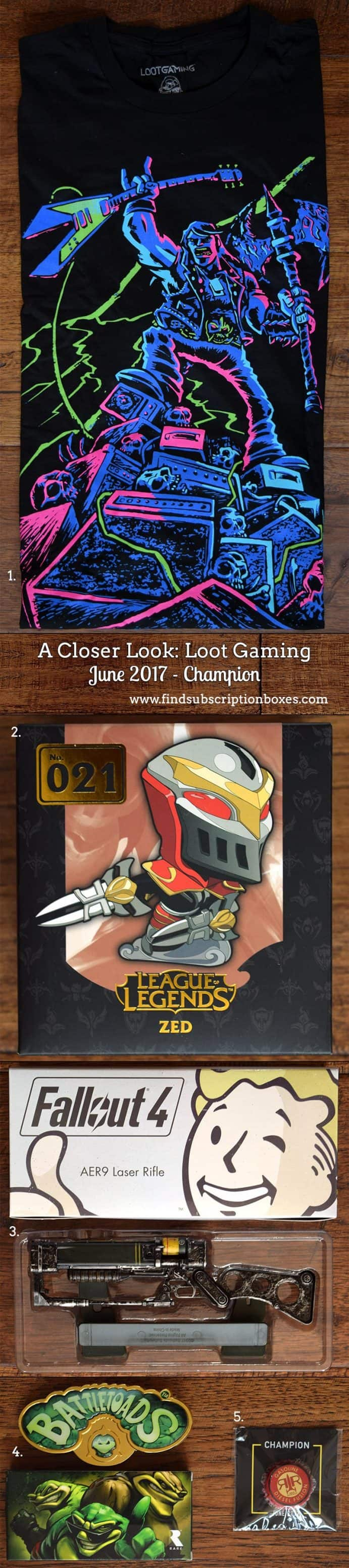 June 2017 Loot Gaming Review - Champion - Inside the Box
