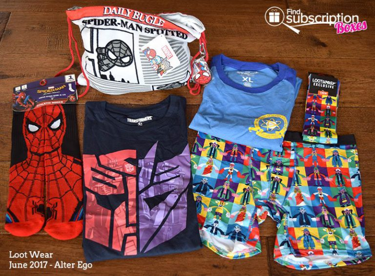 June 2017 Loot Wear Review - Alter Ego - Collection
