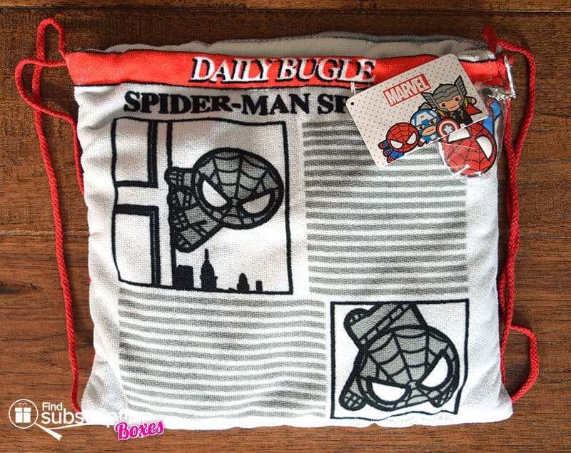 June 2017 Loot Wear Review - Alter Ego - Loot For Her Spider-Man Beach Towel Cinch Bag