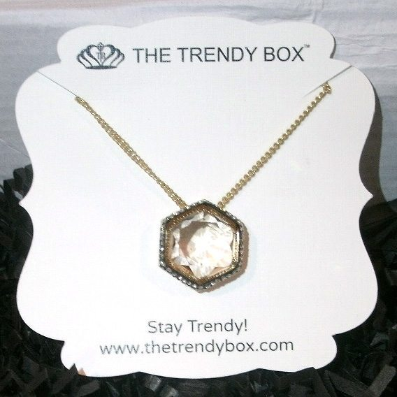 June 2017 The Trendy Box Review - Paris Gem Necklace