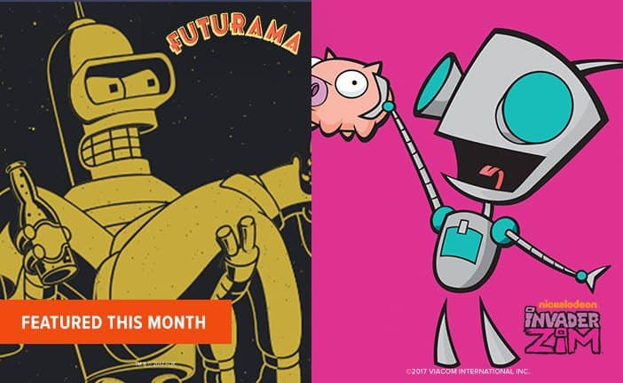 September 2017 Loot Socks Spoilers - Futurama & Invader Zim