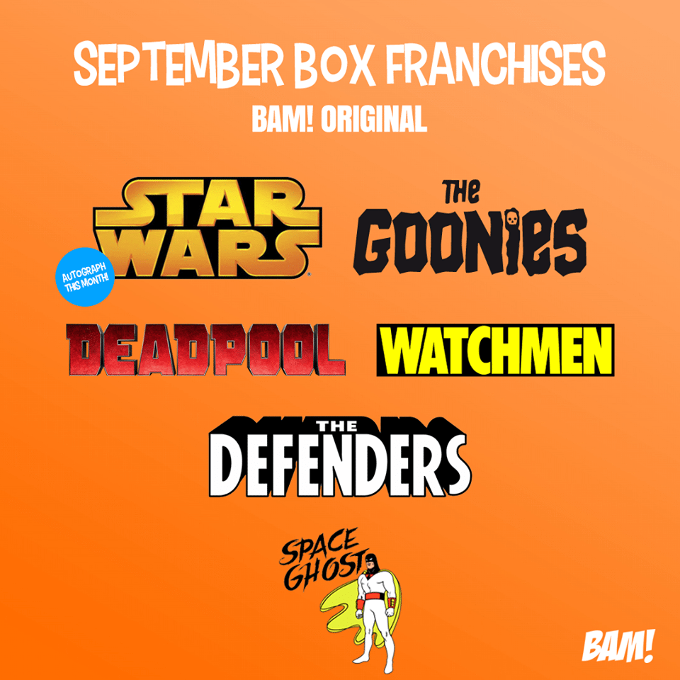 September 2017 The BAM! Box Spoilers
