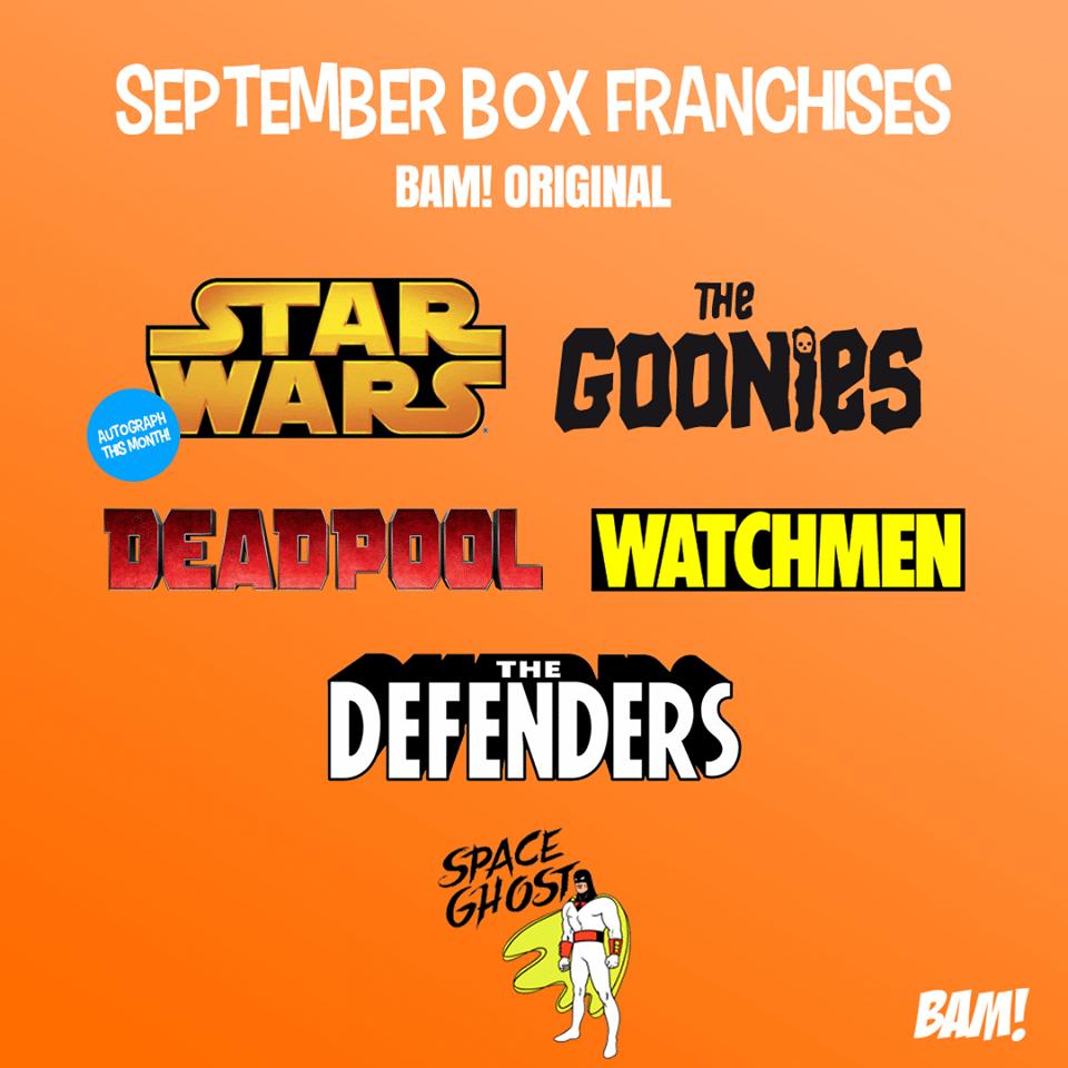 September 2017 The BAM! Box Spoilers
