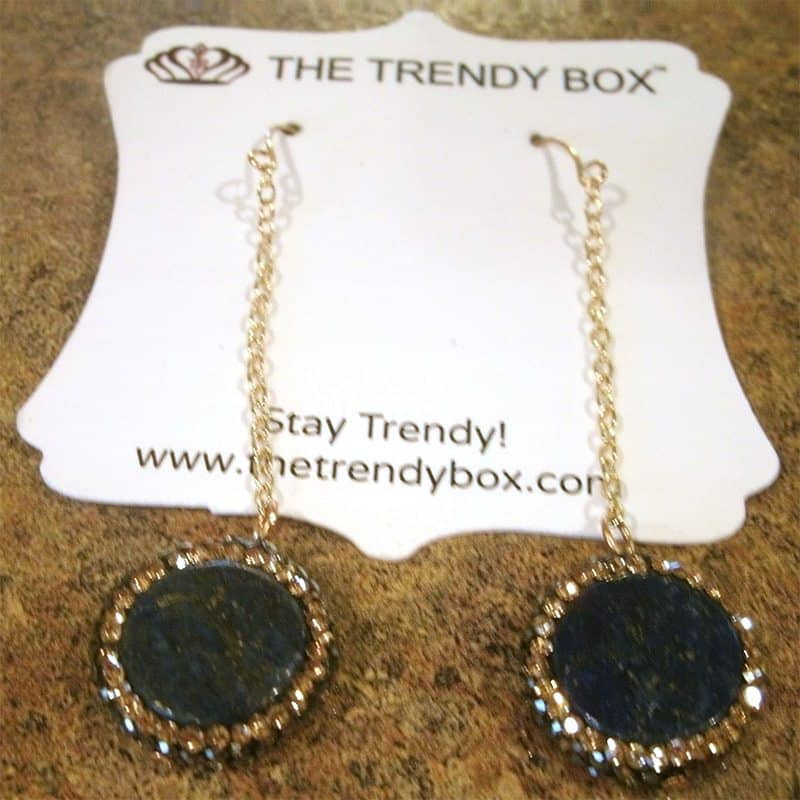 August 2017 The Trendy Box Review - Mystic Drop Earrings