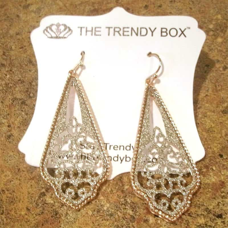 August 2017 The Trendy Box Review - Maxy Earrings