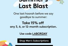Birchbox & BirchboxMan Labor Day Sale: Save 15%