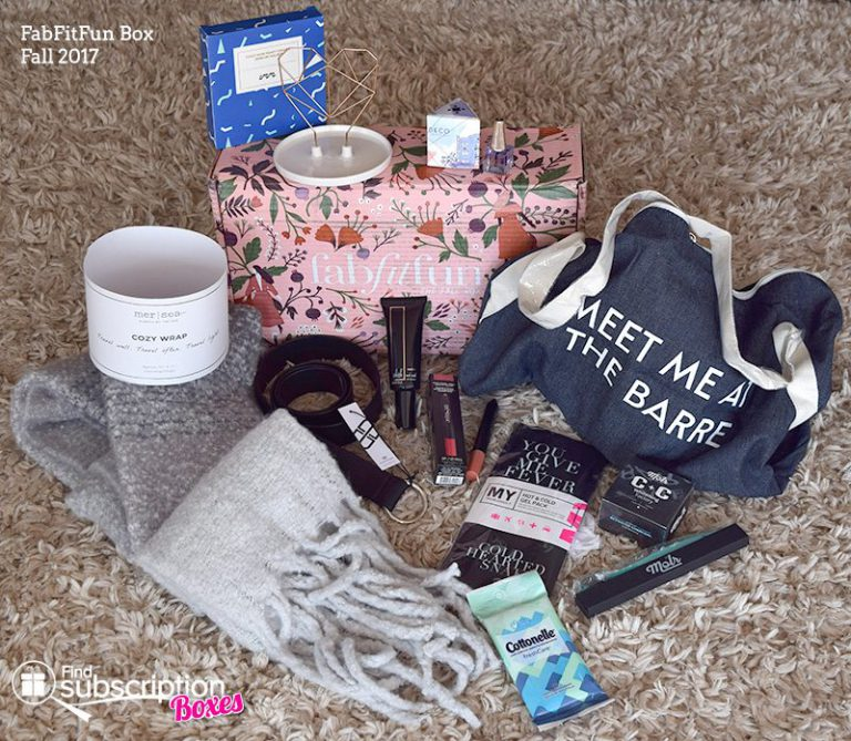 Fall 2017 FabFitFun Box Review - Box Contents