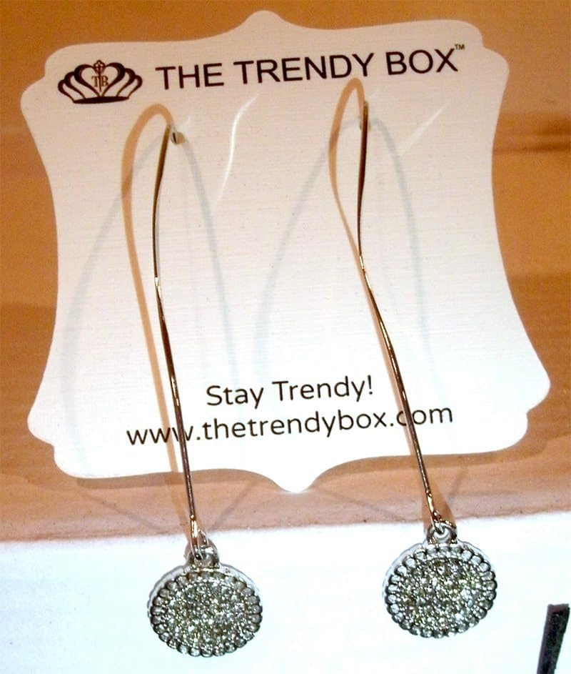 July 2017 The Trendy Box Review - Drop Earrings