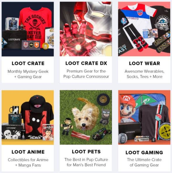 Loot Crate Labor Day Sale - Save 25% OFF Subscription Crates