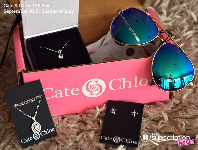 September 2017 Cate & Chloe VIP Box Review – Shades of Gray - Box Contents