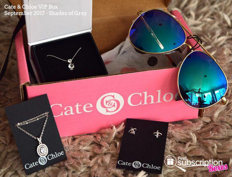 September 2017 Cate & Chloe VIP Box Review – Shades of Gray - Box Contents