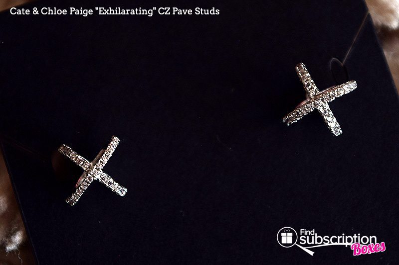 "September 2017 Cate & Chloe VIP Box Review – Shades of Gray - Paige ""Exhilarating"" CZ Pave Studs"