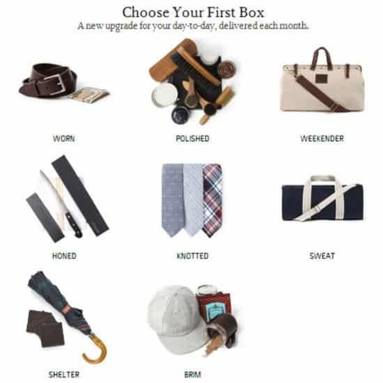 Bespoke Post First Box Selection