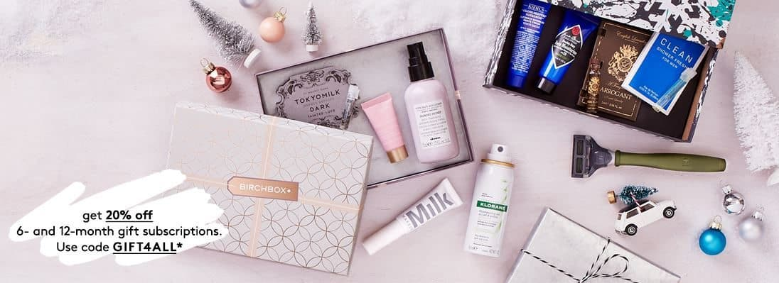 Save 20% Off Birchbox 6 and 12 month Gift Subscriptions