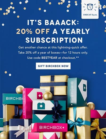 Birchbox 20% Off Subscriptions