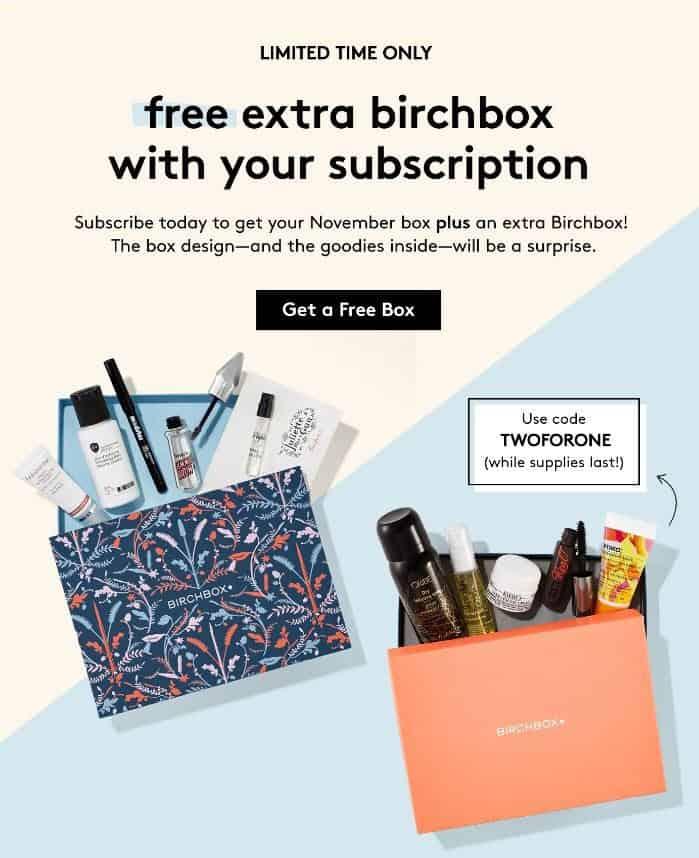 Birchbox: Free Extra Birchbox with New Subscriptions
