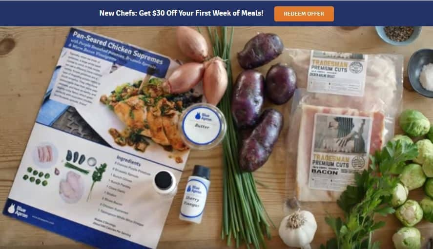 Blue Apron $30 Off First Order