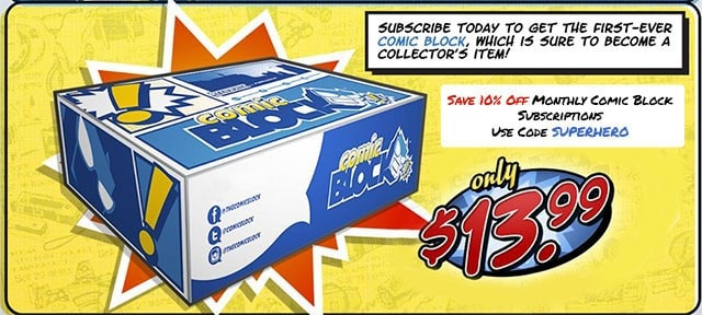 Save 10% Off Monthly Comic Block Subscriptions