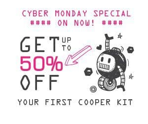 Cooper Kit Cyber Monday Sale - Save 50% Off Your 1st Cooper Kit