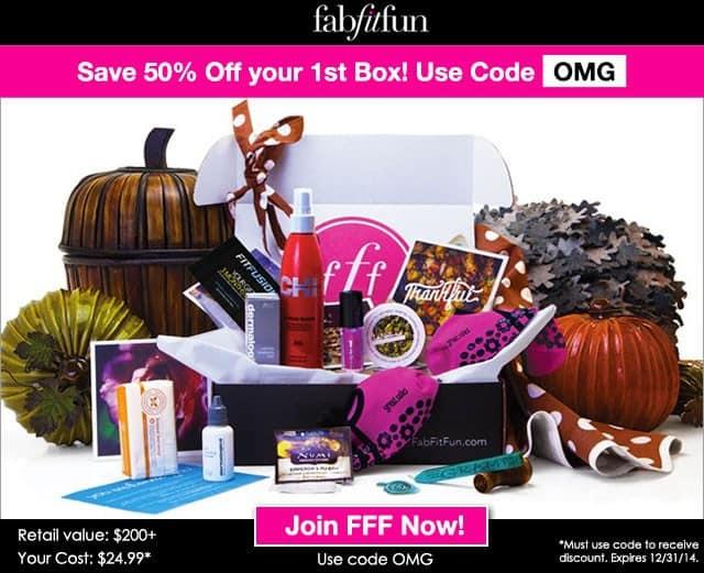 FabFitFun VIP Box 50% Off 1st Box