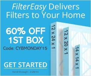 FilterEasy Black Friday - Save 60% Off Your 1st FilterEasy Box