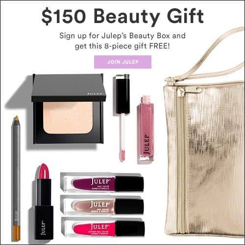 Julep Maven Free $150 Value 8-Piece Beauty Gift