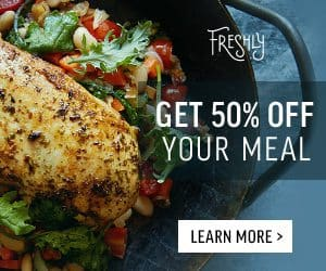 Freshly 50% Off Your 1st Freshly Meal Box