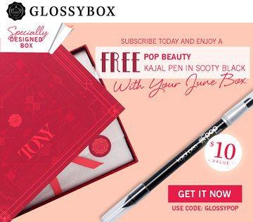 June 2016 GLOSSYBOX Coupon - Free Pop Beauty Kajal Pen