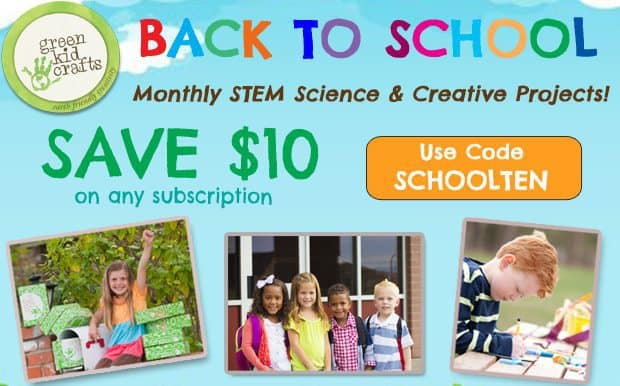Green Kid Crafts Back to School Flash Sale - Up to 50% Off!