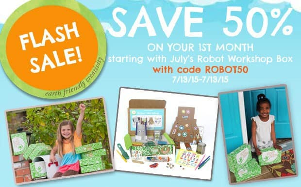 Green Kid Crafts Robot Workshop Box Flash Sale