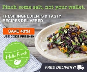 HelloFresh 40% Off Coupon
