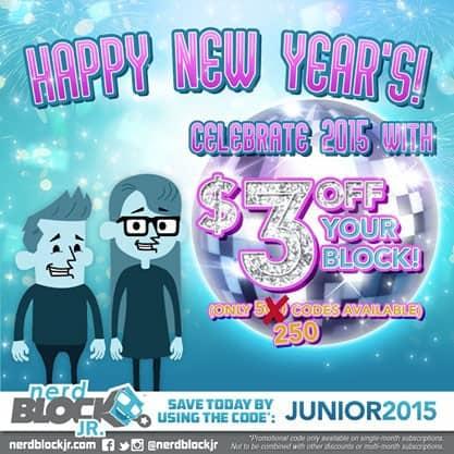 January Save $3 Off Nerd Block Jr