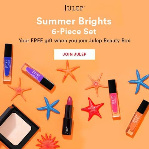 Julep Maven Free Summer Brights 6-Piece Beauty Gift