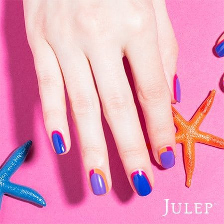 Julep Maven Summer Brights Geometric Gems Nail Art