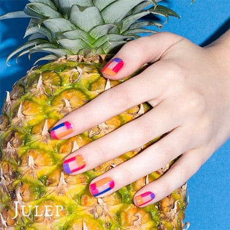 Julep Maven Summer Brights Vibrant Plaid Nail Art