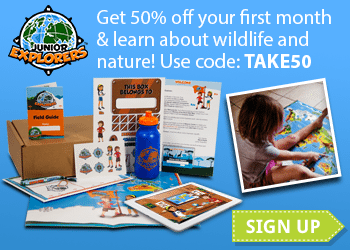 Get 50% off your first month at Junior Explorers! Inspire kids to care for the planet with Junior Explorers! Junior Explorers is a fun and educational monthly subscription that teaches kids, ages 6-11, about wildlife and nature. Every month, kids go on new virtual missions to new ecosystems to learn about the animals that live there. Kids receive a monthly kit in the mail with cool collectibles, as well as a secret code to complete the mission online with fun games and learning. For a limited time only, your readers can take 50% off the 1st month of any subscription with code TAKE50 at checkout.