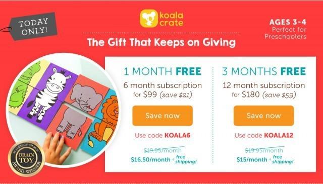 Koala Crate Free Months Coupon
