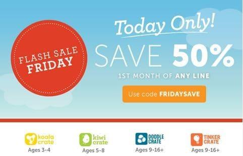 Kiwi Crate Coupon - Flash Sale Friday