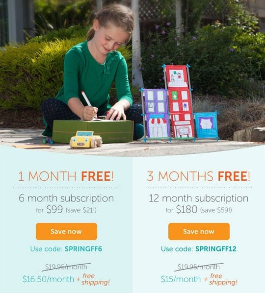 Get Up to 3 FREE Months of Koala Crate, Kiwi Crate, Tinker Crate or Doodle Crate