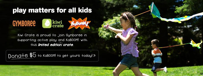 Donate $5 to KaBOOM! and Get a FREE Kiwi Crate Mini Crate