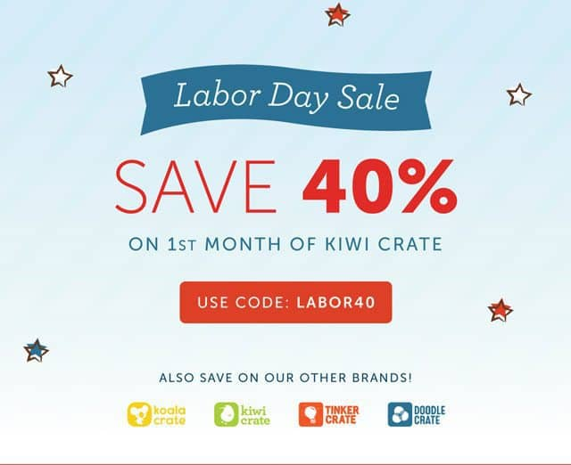 Kiwi Crate Labor Day Coupon Code
