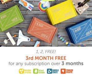 Kiwi Crate Sale - 1, 2, FREE