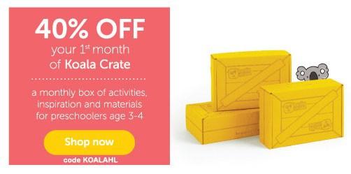 Koala Crate 40% Off 1st Month