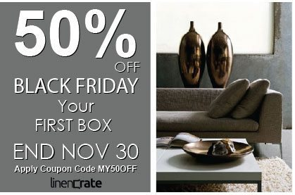 Linen Crate Black Friday: Save 50% Off Your 1st Linen Crate