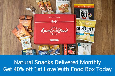 Love With Food Deluxe Box Coupon: Save 40% Off Your 1st Box
