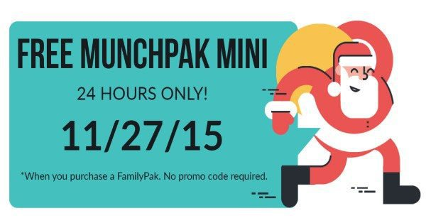 MunchPak Black Friday - Free MunchPak Mini with MunchPak FamilyPak Subscriptions