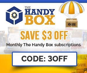 The Handy Box Coupon - Save 3 off monthly subscriptions